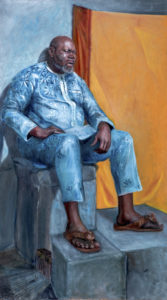 The Wall, An oil painting by Je, a Figurative Artist base in NYC