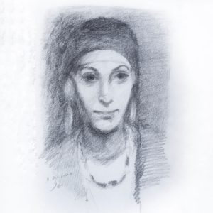 Egyptian Woman With Earring - by John Singer Sargent